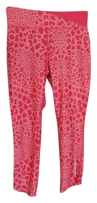 Item - Dri Fit Coral Leopard Cropped Activewear Bottoms Size 4 (S, 27)