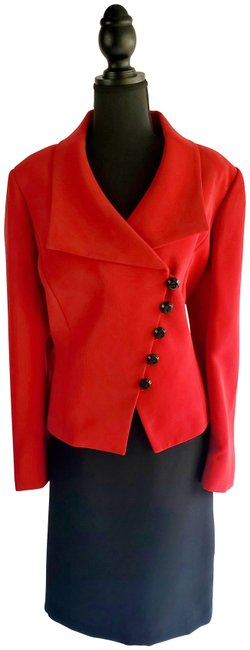 Item - Red and Black Women Skirt Suit Size 14 (L)