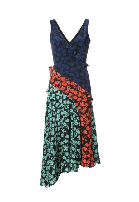 Item - Multicolor New Aggie Floral Ruffle Silk Mid-length Casual Maxi Dress Size 4 (S)