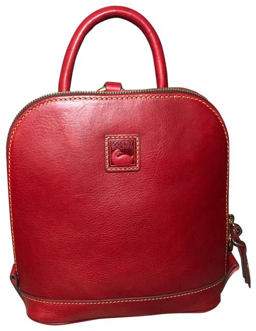 Item - Small Zip Pod Red Florentine Leather Backpack