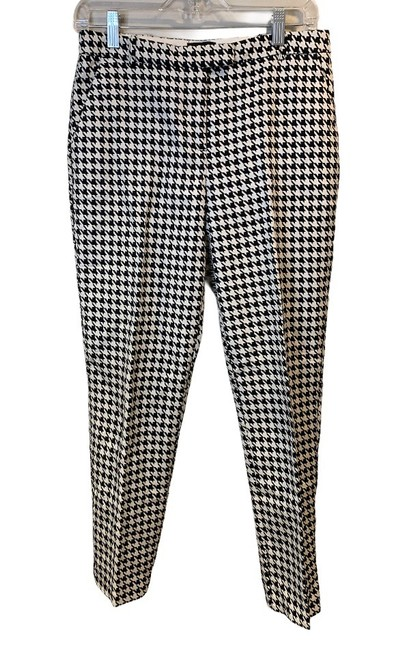 Item - Black & White Houndstooth Ankle Pants Size 6 (S, 28)