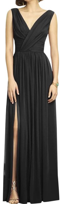 Item - Black Chiffon Goddess Maxi Cocktail Dress Size 4 (S)