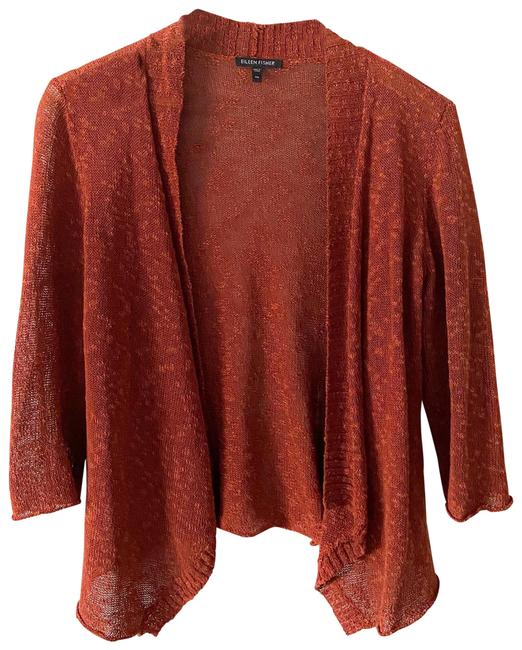 Item - Rust Loose Fit Open Front Cardigan Size 2 (XS)