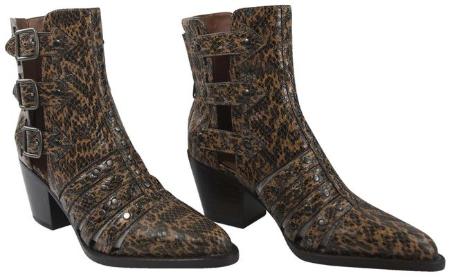 Item - Brown Phoebe Studded Burnt Sienna Leather Cut Out Western Boots/Booties Size US 6 Regular (M, B)