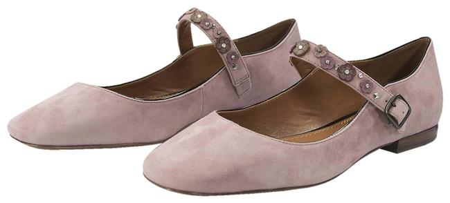Item - Pink Dusty Rose Flower Stud Suede Leather Mary Jane Flats Size US 9.5 Regular (M, B)
