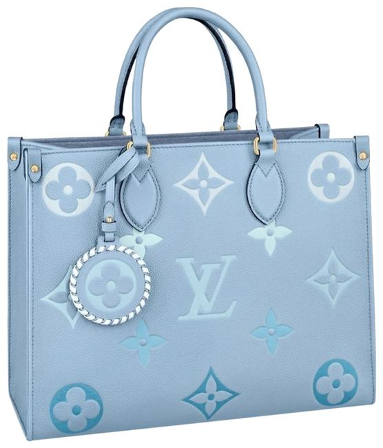Item - Onthego Giant Monogram Blue Tote By Pool Collection Limited Edition Empreinte Leather Shoulder Bag