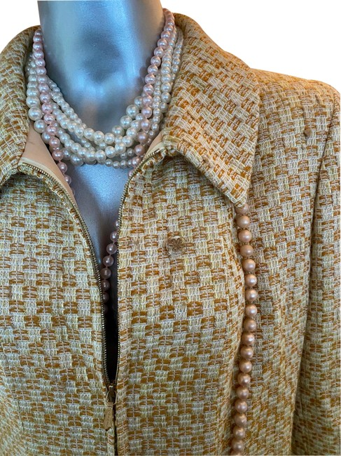 Item - Gold Pearl Buttons Eu40 Coat Size 6 (S)