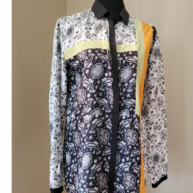Item - Blue and White Paisley Blouse Size 8 (M)