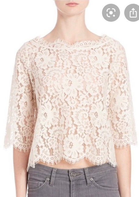 Item - Lace Crop Cream Off White Champagne Top
