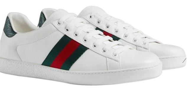 Item - White Men's Ace Leather Sneakers Size US 8 Regular (M, B)