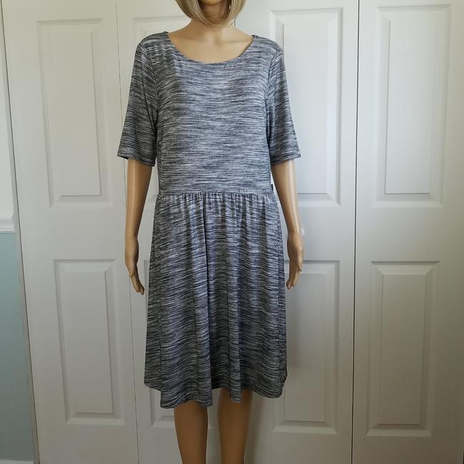 Item - Black and Gray Elbow Sleeve Fit Flare Short Casual Dress Size 12 (L)