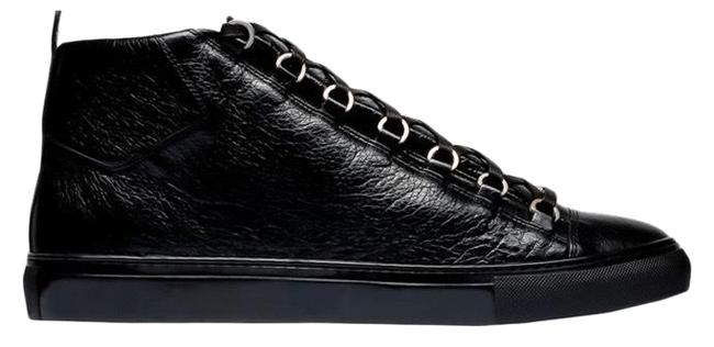 Item - Black Leather High Top Sneakers Size EU 45 (Approx. US 15) Regular (M, B)