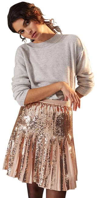 Item - Rose Gold Bea Sequined Skirt Size 6 (S, 28)