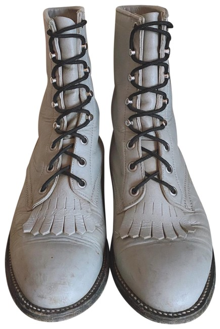Item - Gray Kiltie Boots/Booties Size US 7 Regular (M, B)