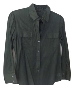 Theory Button Down Shirt forest green