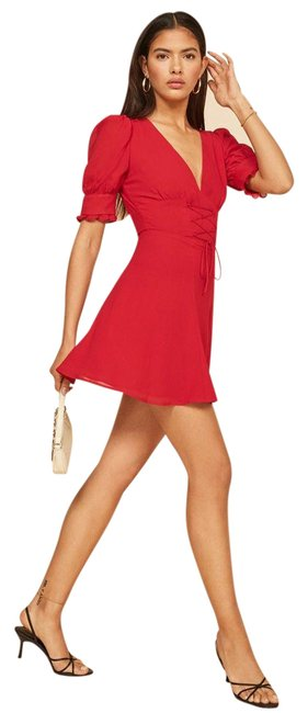 Item - Red Steph Short Casual Dress Size 6 (S)