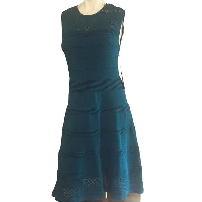Item - Blue New Womens Mid-length Short Casual Dress Size 8 (M)