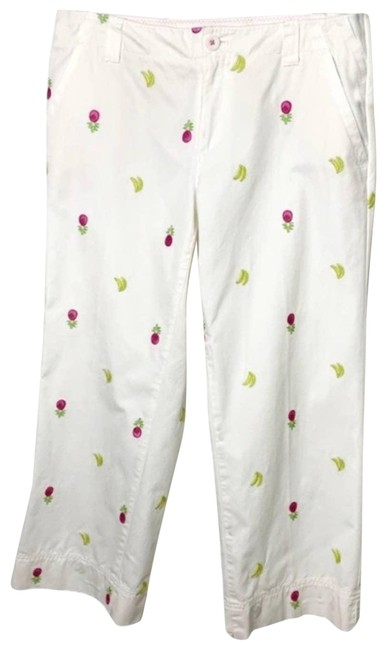 Item - White Embroidered Main Activewear Bottoms Size 4 (S, 27)