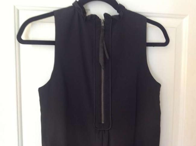 5/48 Sleeveless Flowy Top black