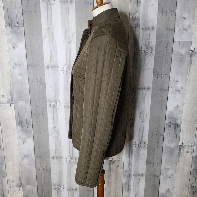 Item - Olive Green Zipper Front Quilted Jacket Size 0 (XS)