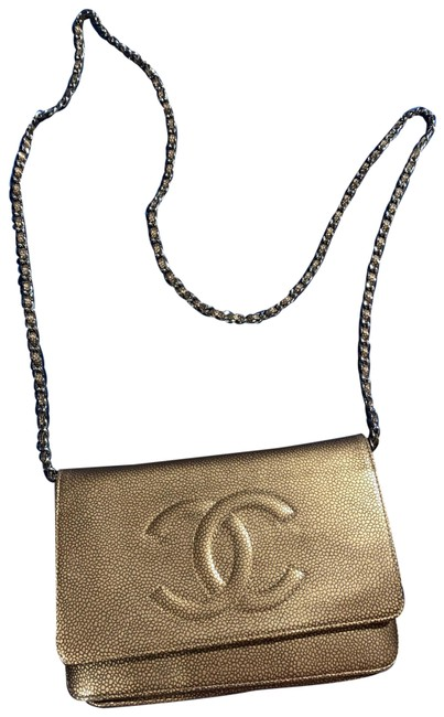 Item - Classic Flap Wallet On A Chain Woc Timeless Quilted Mini Cc Caviar Bronze / Gold Leather Cross Body Bag