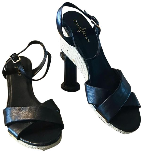 Item - Black Leather Heel Wedges Size US 10 Regular (M, B)