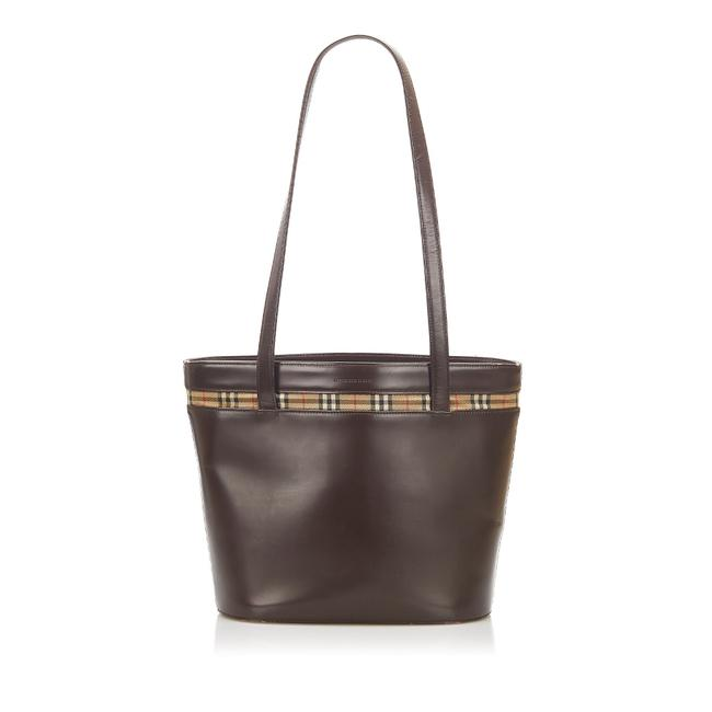 Item - Bag Leather Brown Canvas Tote