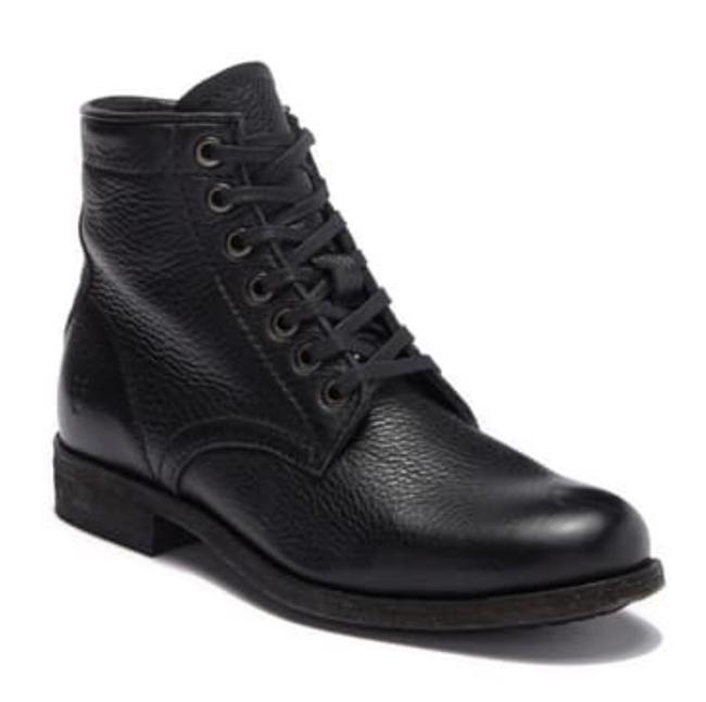 Item - Black Tyler Leather Lace Up Boots/Booties Size US 7.5 Regular (M, B)