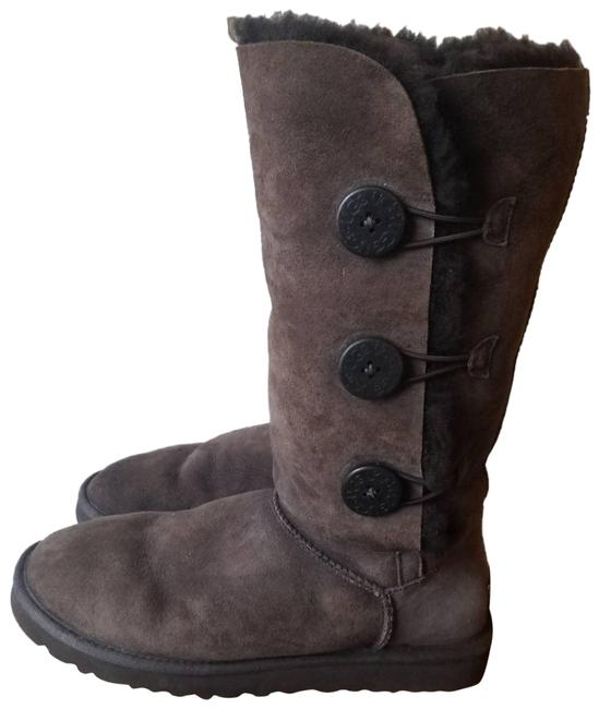 Item - Brown Bailey Button Tall Boots In Dark Mules/Slides Size US 9 Regular (M, B)