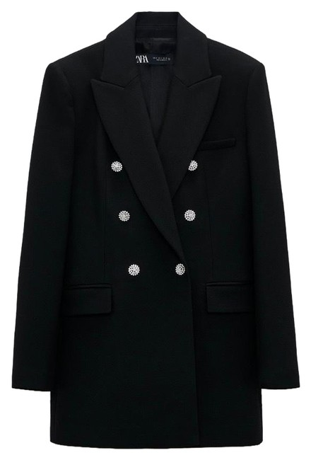 Item - Black Jewel Button Long Blazer Size 12 (L)