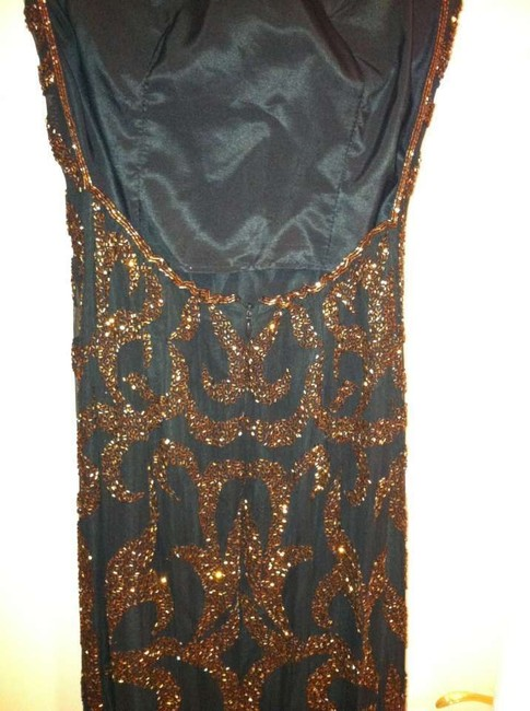 Cache Sexy Beaded Gown Black Beaded Gown Dress