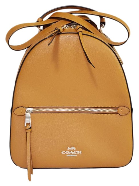 Item - Jordyn F76624 Metallic Yellow Leather Backpack