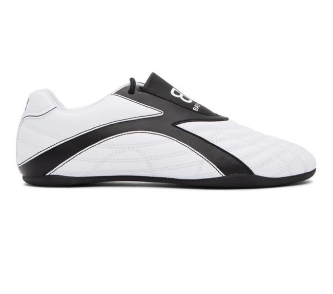 Item - White Quilted Sneakers Flats Size EU 38 (Approx. US 8) Narrow (Aa, N)