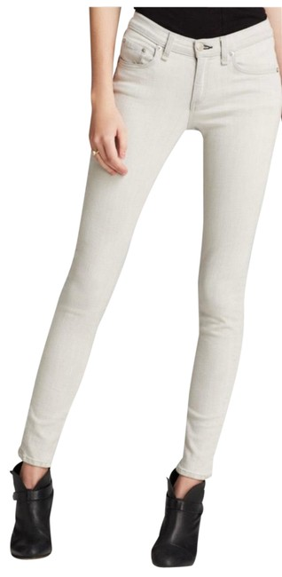 Item - Gray Light Wash In The Wedge Skinny Jeans Size 4 (S, 27)