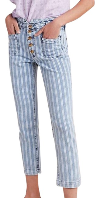 Item - Pilcro and The Letterpress Blue White Acid High-rise Skinny Jeans Size 2 (XS, 26)