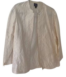 Eileen Fisher Silk Crepe cream Jacket