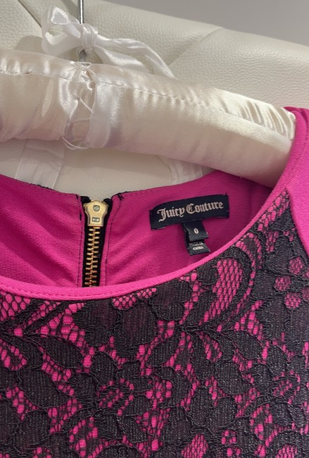 Juicy Couture Pink and Blank Short Cocktail Dress Size 0 (XS) Juicy Couture Pink and Blank Short Cocktail Dress Size 0 (XS) Image 2