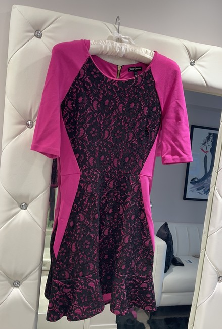 Juicy Couture Pink and Blank Short Cocktail Dress Size 0 (XS) Juicy Couture Pink and Blank Short Cocktail Dress Size 0 (XS) Image 3