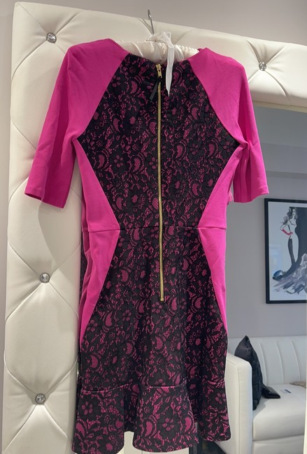 Juicy Couture Pink and Blank Short Cocktail Dress Size 0 (XS) Juicy Couture Pink and Blank Short Cocktail Dress Size 0 (XS) Image 4