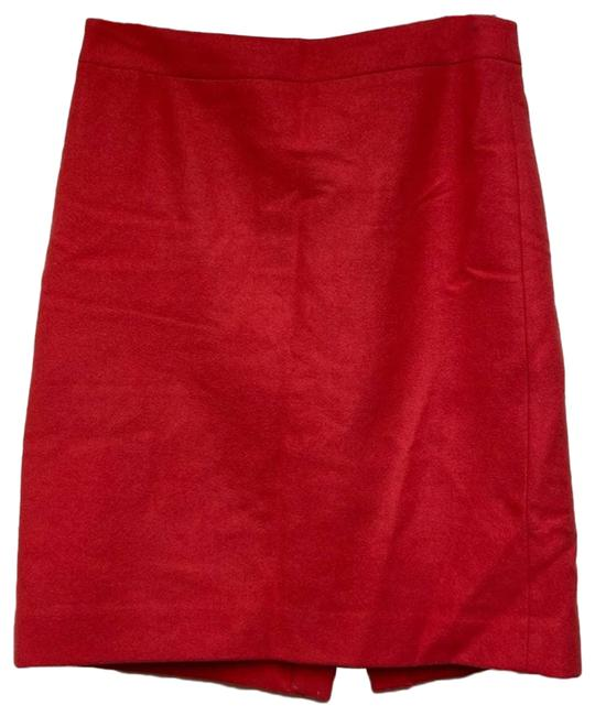 Item - Red The Pencil Coral Wool Blend Ladies Skirt Size 4 (S, 27)