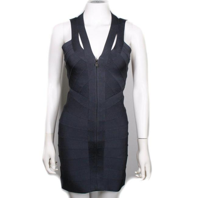 Item - Dark Navy Blue Sleeveless Mini Bodycon Open Back Bandage Us Small S Short Night Out Dress Size 4 (S)