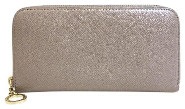 Item - Gray Long Round Zipper Leather 286313 Wallet