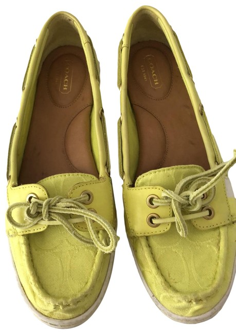 Item - Lime Green and White Flats Size US 8.5 Regular (M, B)