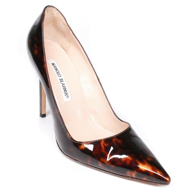 Item - Amber - Dark Brown Pick 105 Stiletto Heels Patent Tortoise Pumps Size EU 37.5 (Approx. US 7.5) Regular (M, B)