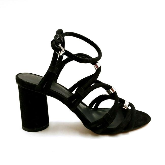 Item - Black Woman's High Heel Ankle Strap Sandals Size US 5.5 Regular (M, B)