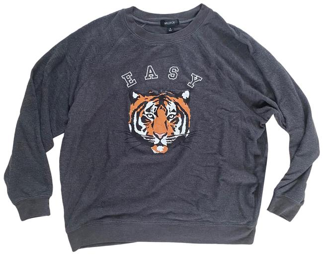 Item - Easy Tiger Small Orange and Gray Sweater