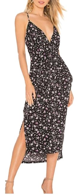 Item - Black Pink Draped Pocket High Low Floral Long Casual Maxi Dress Size 6 (S)