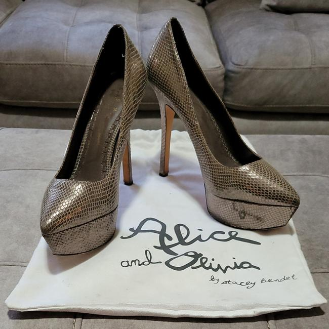 Item - Bronze Python Leather Platforms Size EU 41 (Approx. US 11) Regular (M, B)