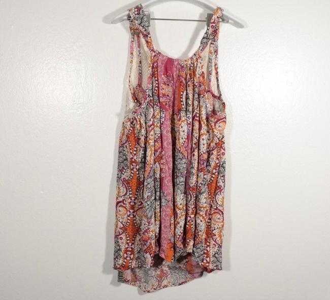Free People Beige and Pink Count Me In Trapeze Tunic Size 6 (S) Free People Beige and Pink Count Me In Trapeze Tunic Size 6 (S) Image 4