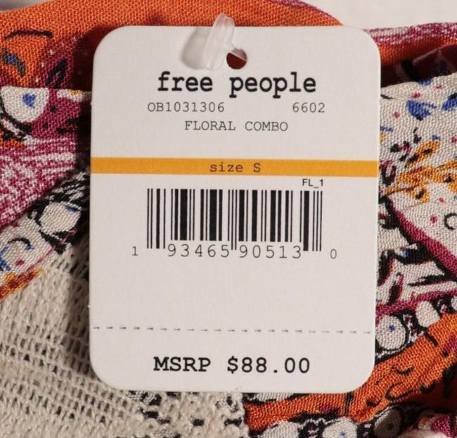 Free People Beige and Pink Count Me In Trapeze Tunic Size 6 (S) Free People Beige and Pink Count Me In Trapeze Tunic Size 6 (S) Image 6